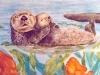 Sea Otter Mural- Muralist Carolee Merrill