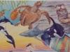 Aquatic Wonders Mural- Muralist Carolee Merrill
