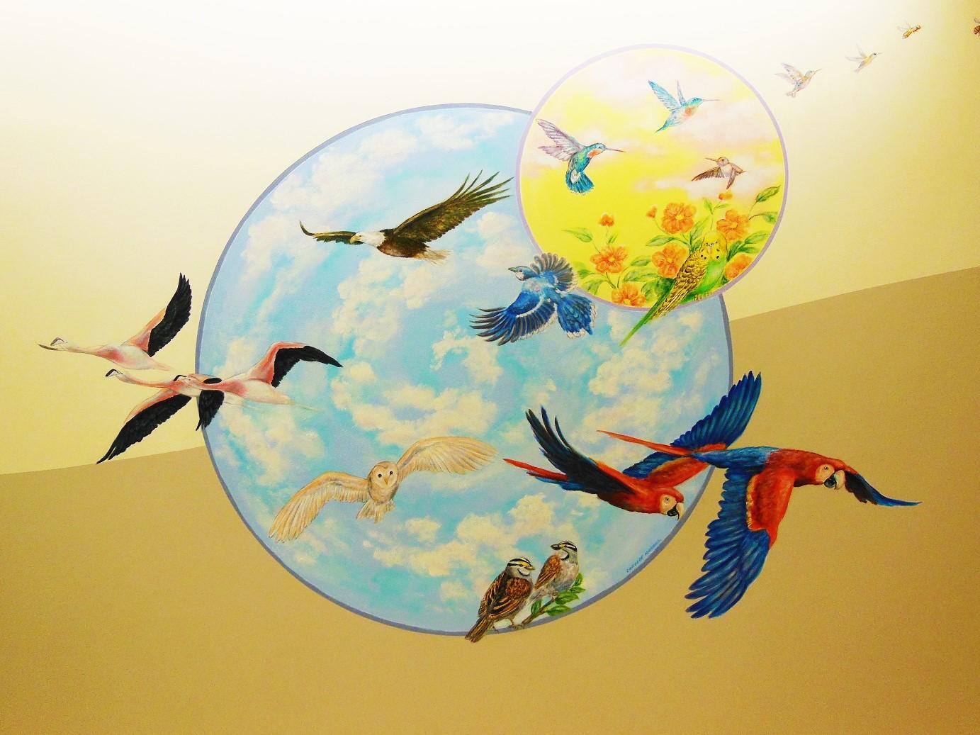 Choc Hospital Mural - Muralist Carolee Merrill