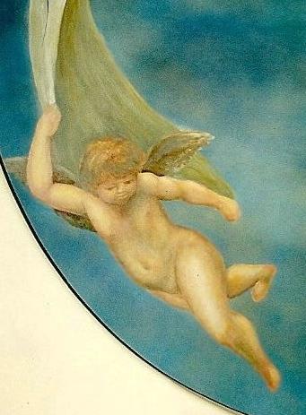 Cherub Mural - Muralist Carolee Merrill