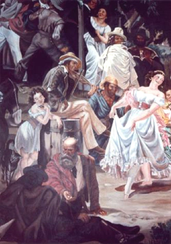 Early California Mural  - Muralist Carolee Merrill