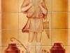 Mural of Christ on tile- Muralist Carolee Merrill