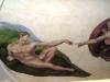 God Creating Adam Mural- Muralist Carolee Merrill