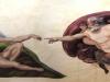 creation Mural God Creating Adam Mural- Muralist Carolee Merrill
