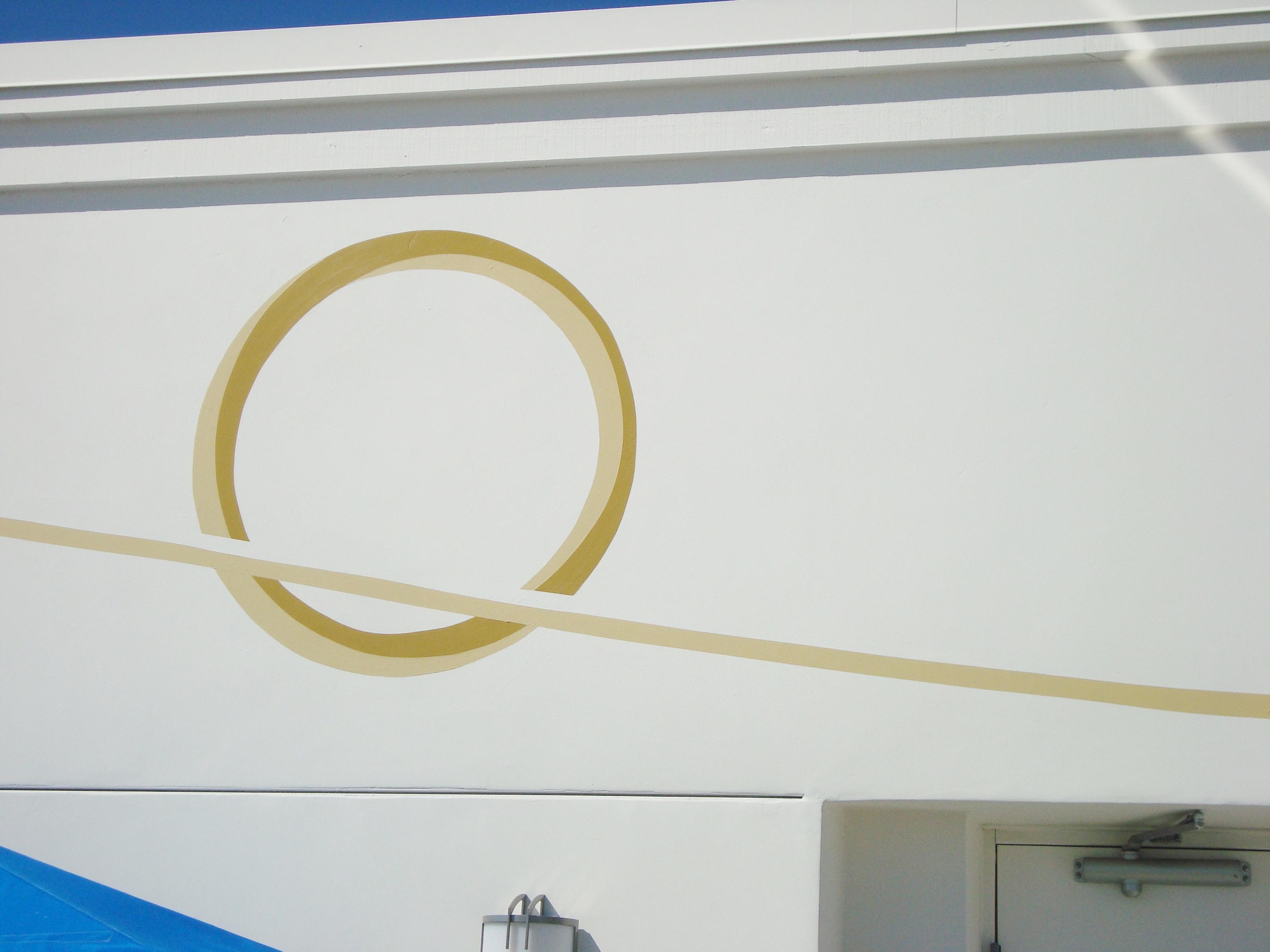 Crousel Hotel Pool Mural- Muralist Carolee Merril