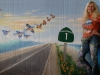 Malibu Seafood Mural - Highway 1 Mural-  flying fish transforming into butterflies!