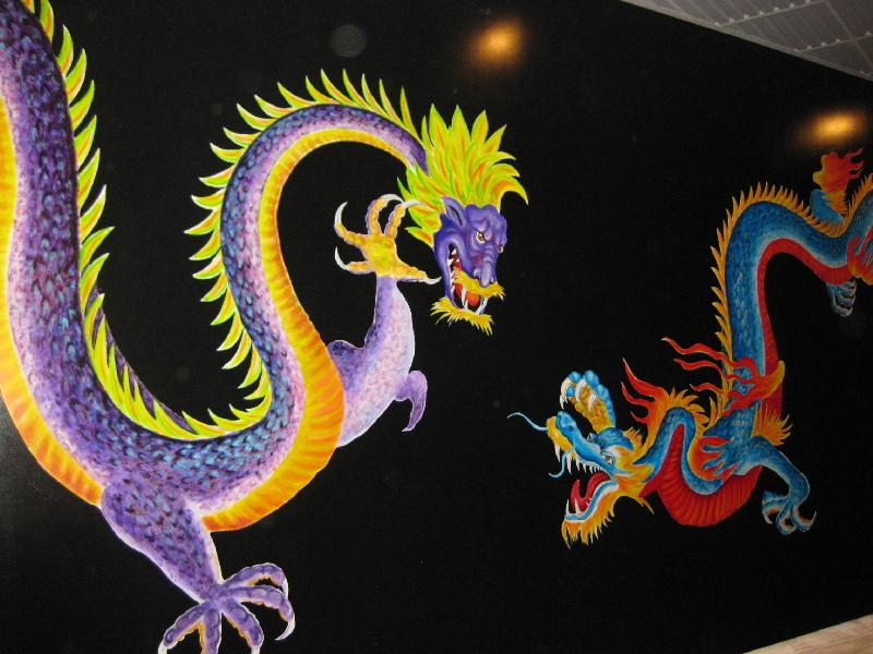 Ziing's Restaurant Mural  - Muralist Carolee Merrill