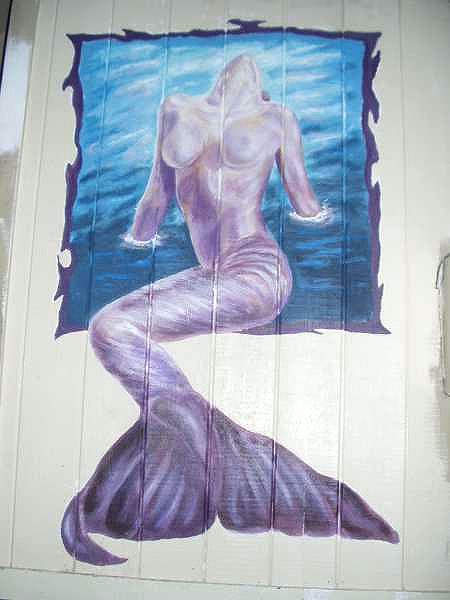 Mermaid Restaurant Mural - Muralist Carolee Merrill