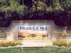 Villa la Paz Sign - Muralist Carolee Merrill