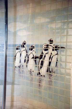 Penguins Tile Mural - Muralist Carolee Merrill