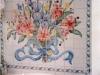 Floral Bath  Tile Mural - Muralist Carolee Merrill