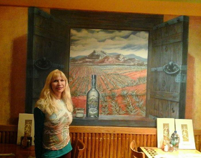Jose Cuervo Trompe L'oeil Mural - Muralist Carolee Merrill