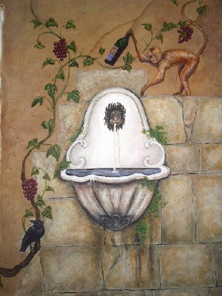 Tuscany Trompe L'oeil Mural - Muralist Carolee Merrill]