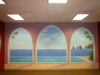 Aquatic Trompe L'oeil Mural - Muralist Carolee Merrill