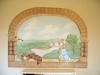 Peter Rabbit Trompe L'oeil Mural - Muralist Carolee Merrill