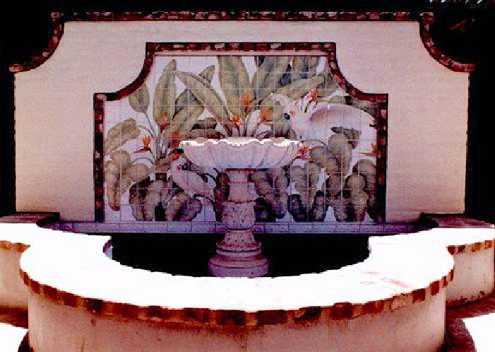 Tropical Trompe L'oeil Mural - Muralist Carolee Merrill