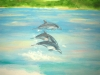 McCaw and Dolphin Tropical Mural- Muralist Carolee Merrill