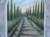 Cypress Lane Tuscan Mural - Muralist Carolee Merrill