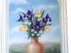 Iris Bouquet Tuscan Mural - Muralist Carolee Merrill