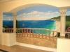 Overlooking the Mediterranean Tompe L'oeil Mural  - Muralist Carolee Merrill