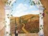 Tuscany Vineyard Tuscan Mural - Muralist Carolee Merrill