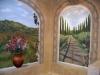 Tuscan Vineyard Mural - Muralist Carolee Merrill
