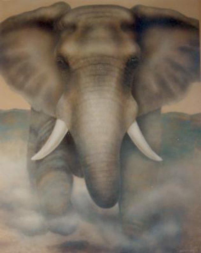 Bull Angel Mural Muralist Carolee Merrill