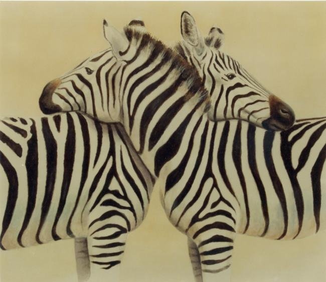 Zebra Tenderness Mural l- Muralist Carolee Merrill