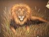 Leo the Lion Mural - Muralist Carolee Merrill