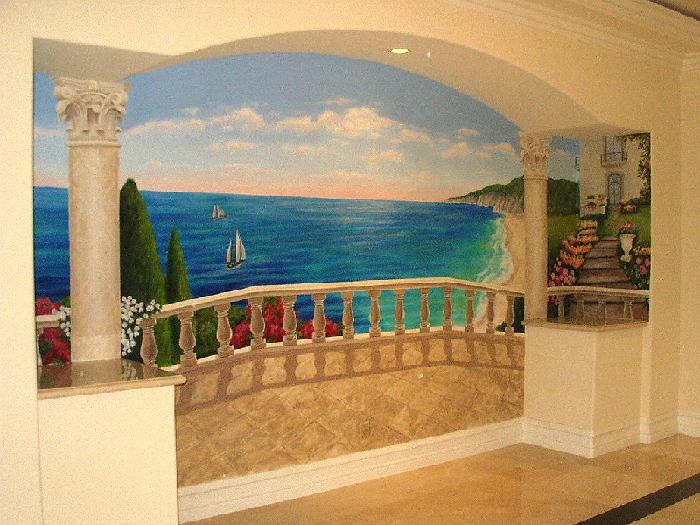 trompe l 39 oeil murals fine art muralist. Black Bedroom Furniture Sets. Home Design Ideas