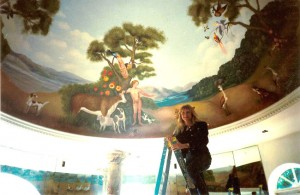 Jan Brugal Ceiling Mural - Muralist Carolee Merrill